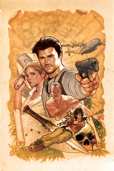 Uncharted Variant Cover by Adam Hughes