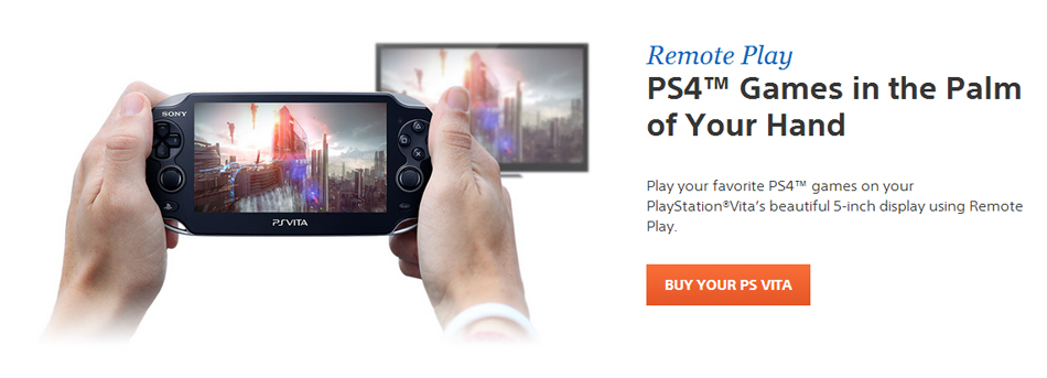 Official Sony PS4 site update confirms PS Vita remote play of all PS4 games