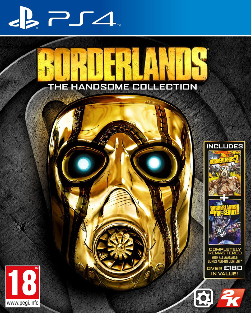 Borderlands The Handsome Collection box art is a shiny piece of work