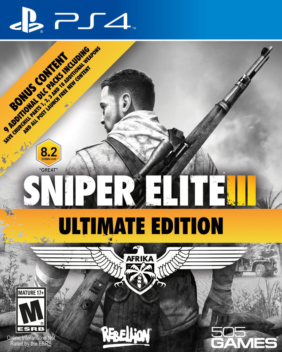 Sniper Elite 3 Ultimate Edition  box art