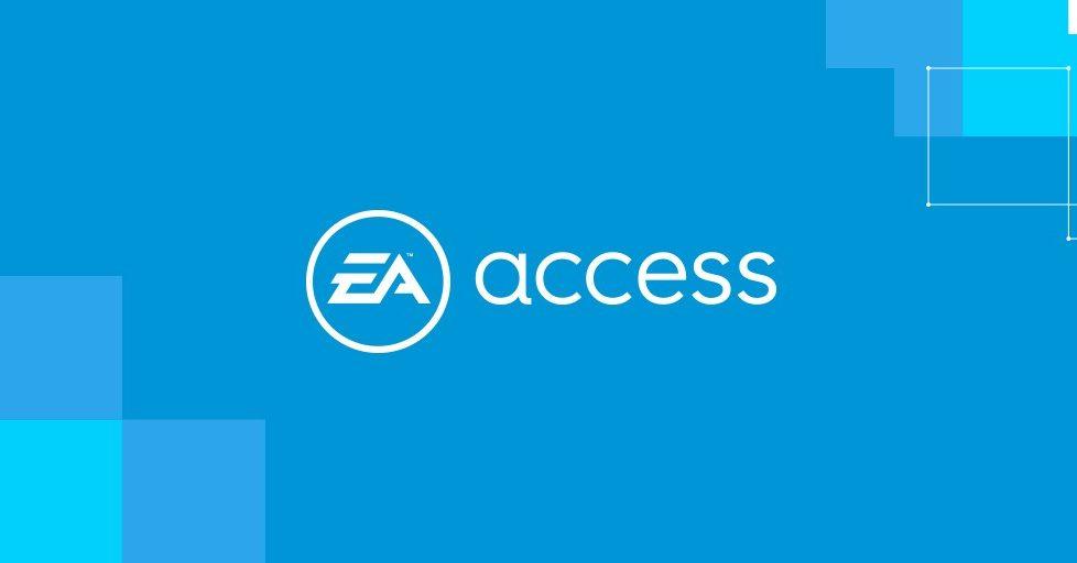 large blue image with ea access logo